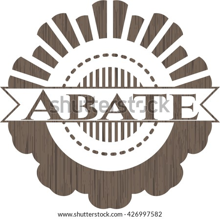 Abate badge with wood background