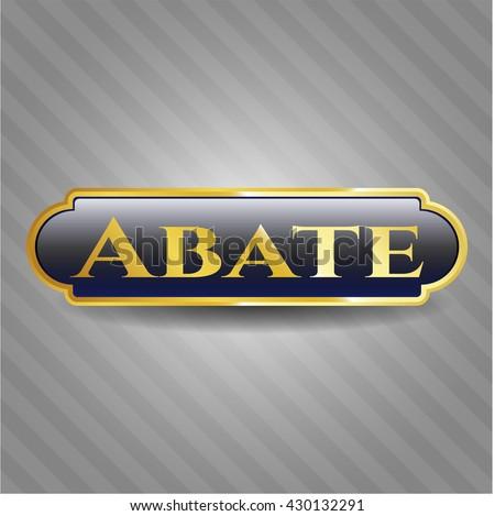 Abate golden emblem or badge