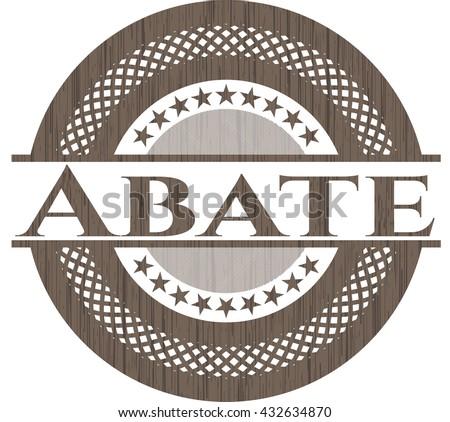 Abate wooden emblem. Vintage.