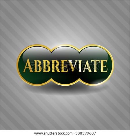 Abbreviate gold emblem or badge
