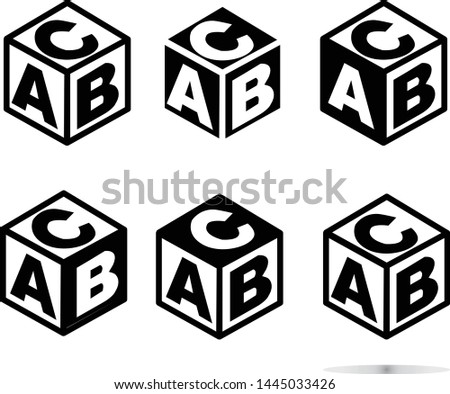 ABC block sing on white background. flat style. abc cubes icon for your web site design, logo, app, UI. ABC block symbol.