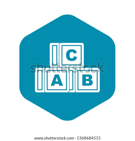 ABC cubes icon. Simple illustration of ABC cubes vector icon for web