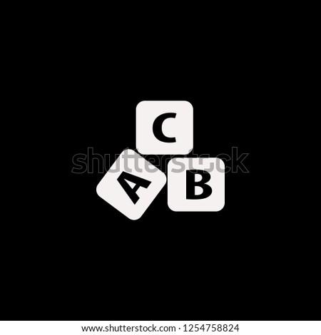 ABC cubes vector icon. flat ABC cubes design. ABC cubes illustration for graphic