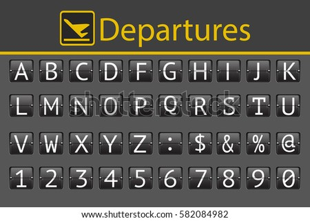 ABC flipping panel (DEPARTURE BOARD)