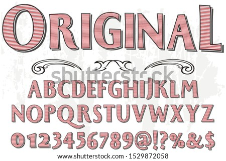 abc Font alphabet Script Typeface handcrafted handwritten vector label design original