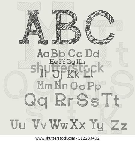 ABC, hand-drawn