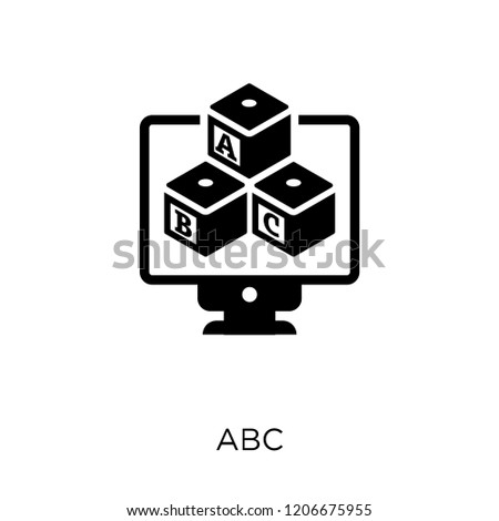 Abc icon. Abc symbol design from Online learning collection.