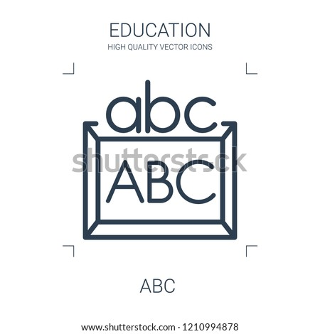 abc icon. high quality line abc icon on white background. from education collection flat trendy vector abc symbol. use for web and mobile