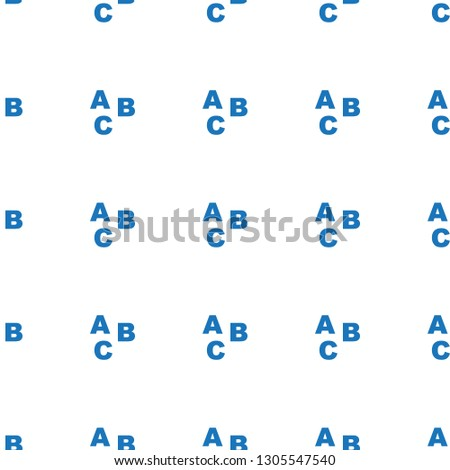 ABC icon pattern seamless white background. Editable filled ABC icon. ABC icon pattern for web and mobile.