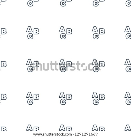 ABC icon pattern seamless white background. Editable outline ABC icon. ABC icon pattern for web and mobile.