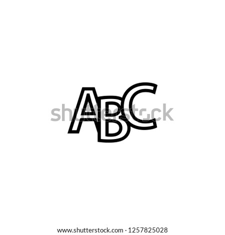 abc icon vector. abc vector graphic illustration