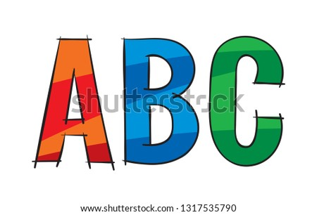 abc letters. colorful abc letters