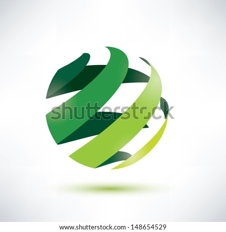 abctract green globe icon