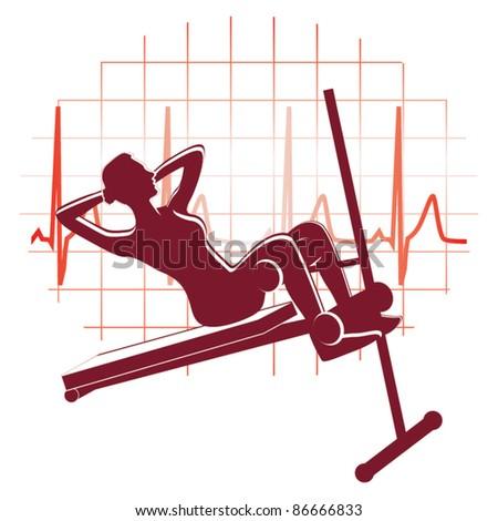 Abdominal exercise icon vector