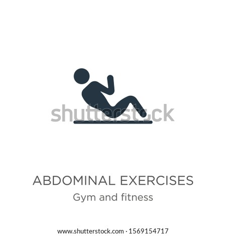 Abdominal exercises icon vector. Trendy flat abdominal exercises icon from gym and fitness collection isolated on white background. Vector illustration can be used for web and mobile graphic design,
