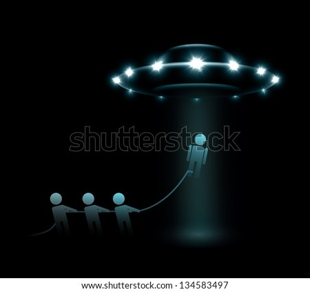 Abduction of person by aliens. Eps 10