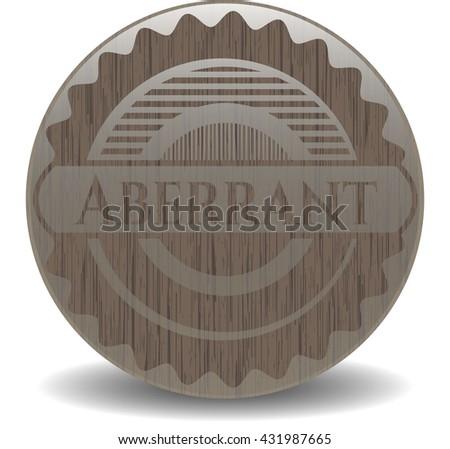 Aberrant wood emblem. Vintage.