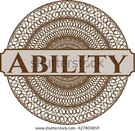 Ability abstract rosette