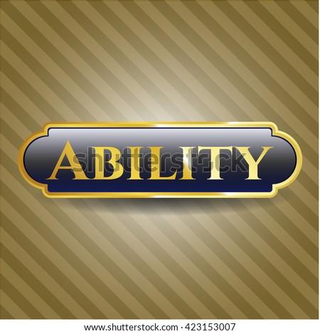 Ability golden emblem or badge