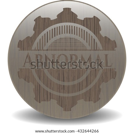 Abnormal realistic wooden emblem