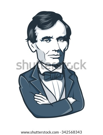 abraham lincoln vector portrait