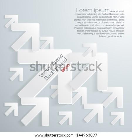 Abscract 3D geometrical arrow-Vector illustration