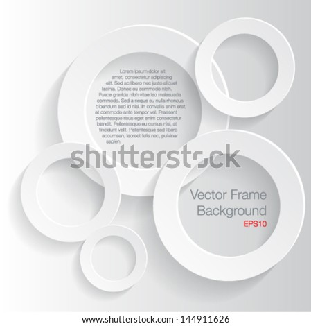 Abscract 3D geometrical frame-Vector illustration