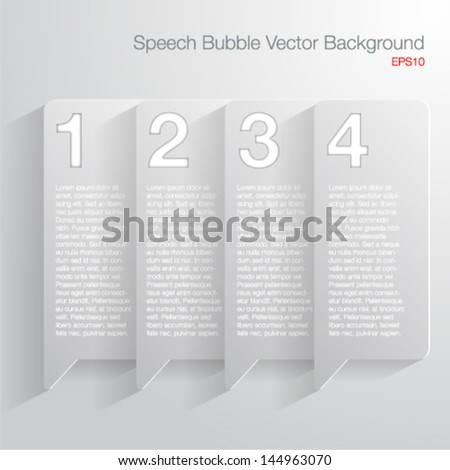 Abscract 3D speech bubble frame-Vector illustration