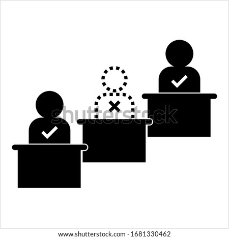 Absent Icon, Absenteeism, Not Present Icon Vector Art Illustration Сток-фото ©