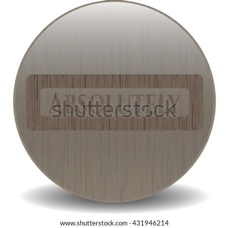 Absolutely wood emblem. Retro