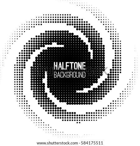 absract halftone geometric