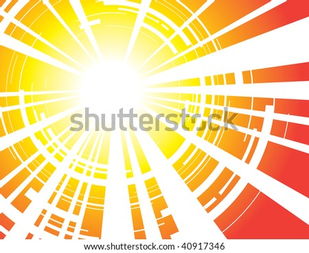 absract sunrays background