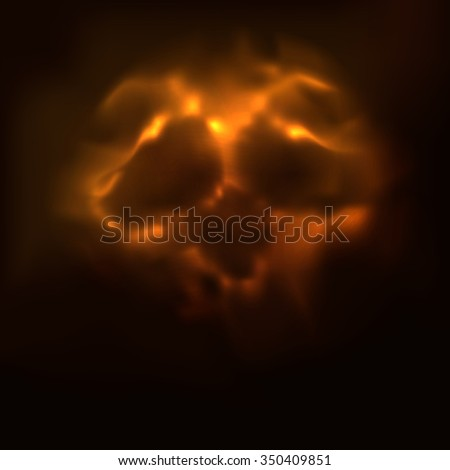 abstrack skull abstract smoke