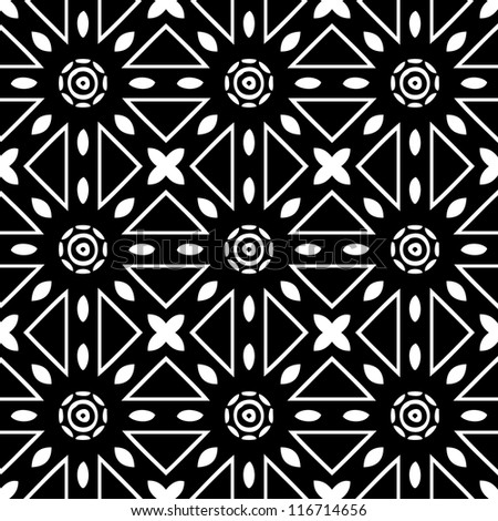 Abstracr ornamental seamless pattern background black and white vector illustration