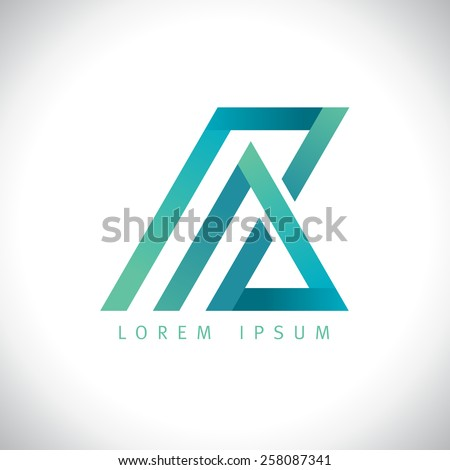abstract a and z  letters logo