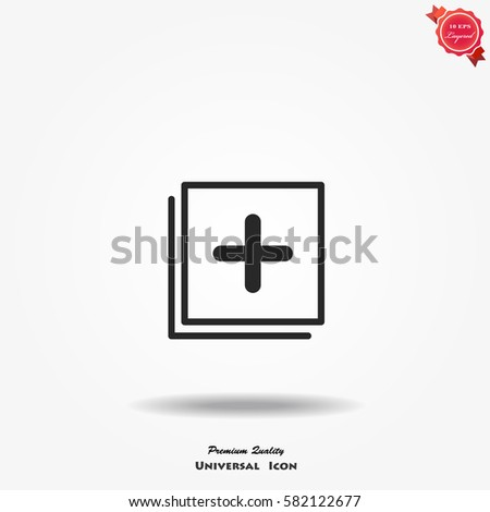 Abstract add vector icon Stock photo ©