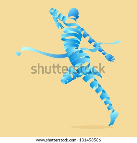 Abstract aerobics dance to slim, illustration by vector design.