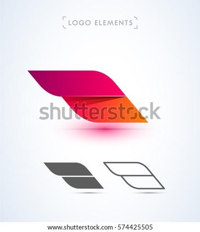 abstract aircraft wing logo