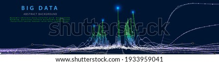 Abstract analytical background with  analyze data chart. Analytics algorithms. Big data. Quantum cryptography concept. Data chart.  Data chart.  Banner for business, science and technology.