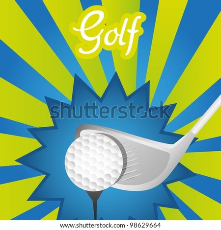 abstract and colorful golf background, vector illustration