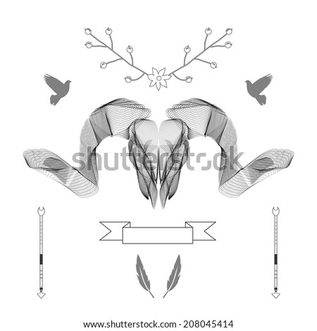 abstract animal background line