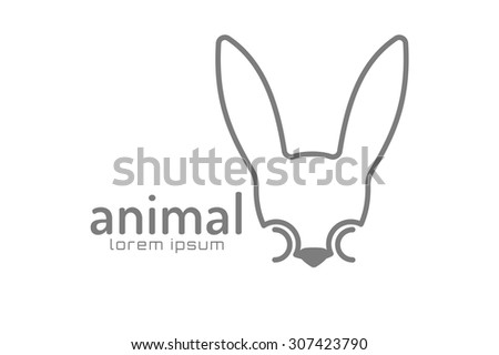 abstract animal face logo