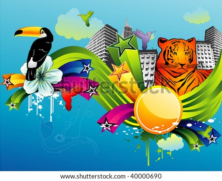 abstract animals vector illustration