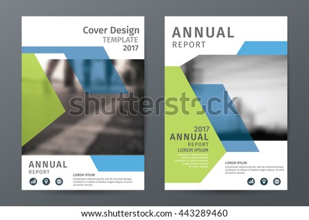 Abstract  annual report brochure flyer template, book cover layout in A4 size