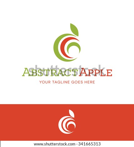 abstract apple logo for food or