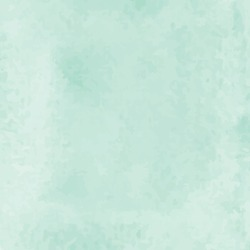 Abstract Aquamarine watercolor hand paint texture.