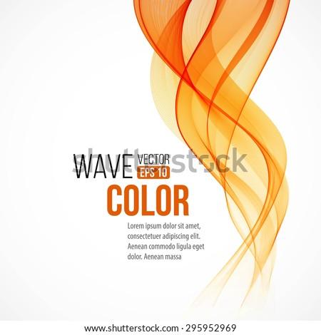 abstract arange wave design