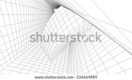 Abstract architectural background. Futuristic architecture #336664889