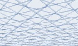 Abstract architectural 3D background. Futuristic vector illustration.