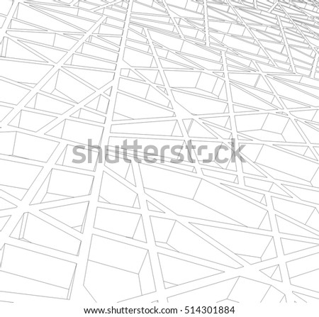 abstract architectural design #514301884